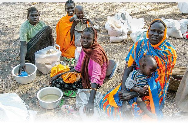 Sudanese women and children