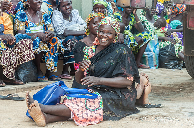 Nigerian woman smiling
