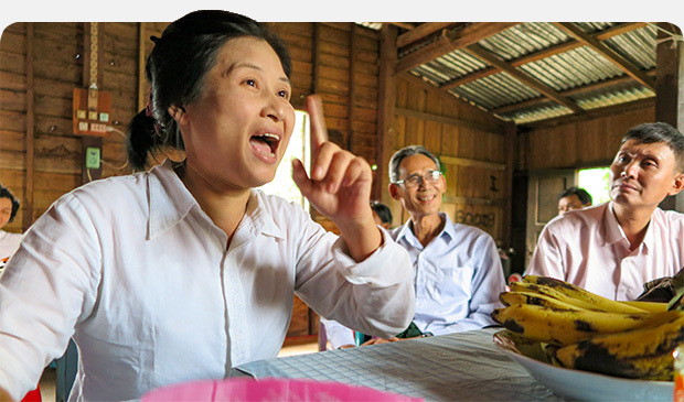 Inzali, who is leading Buddhists to Christ in Myanmar